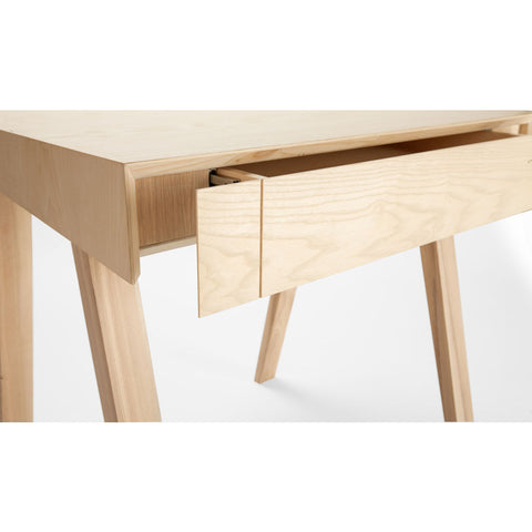 EMKO 4.9 Desk w/ 1 Drawer | European Ash-4.9SEASH
