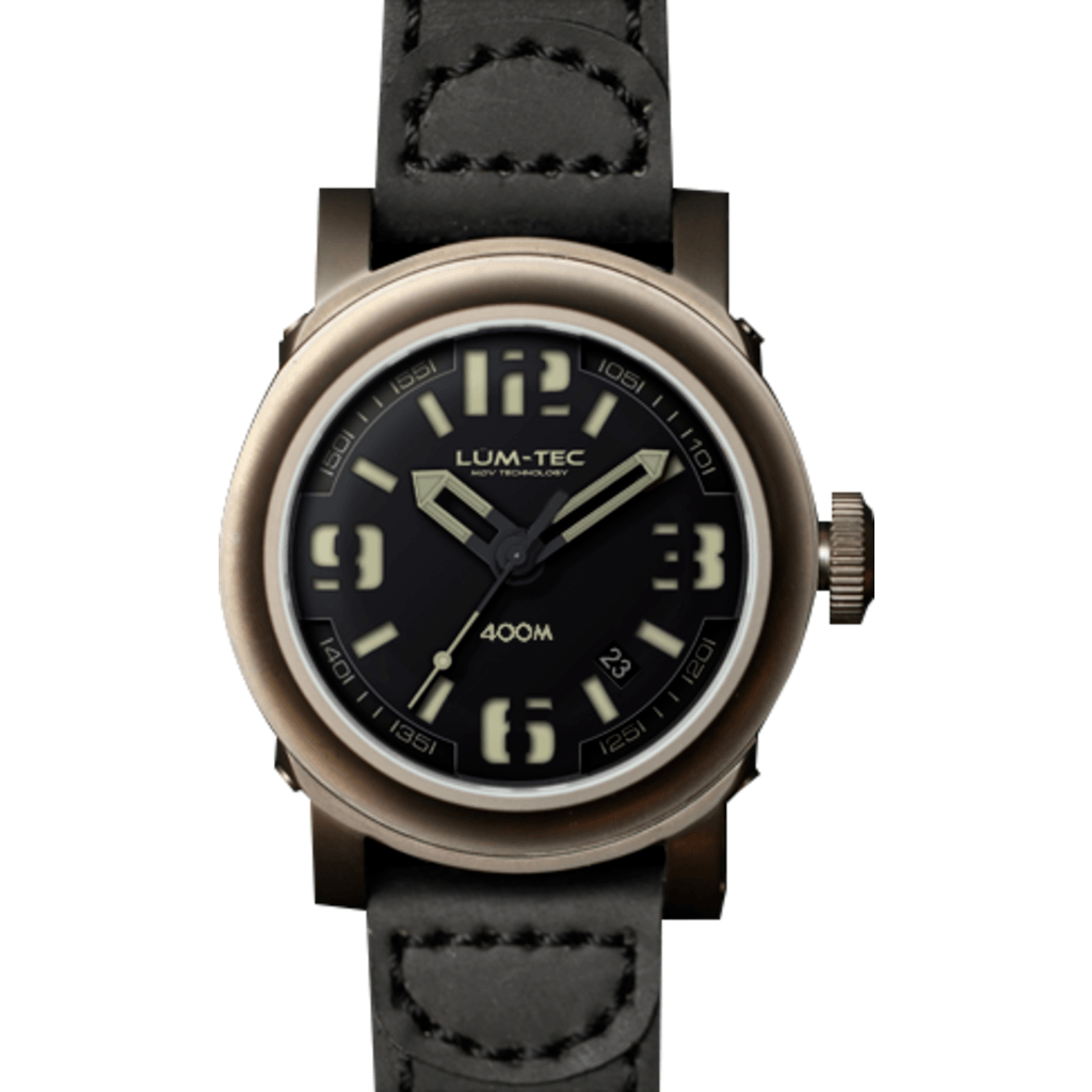 Lum-Tec 400M-1 Abyss Watch | Leather Strap