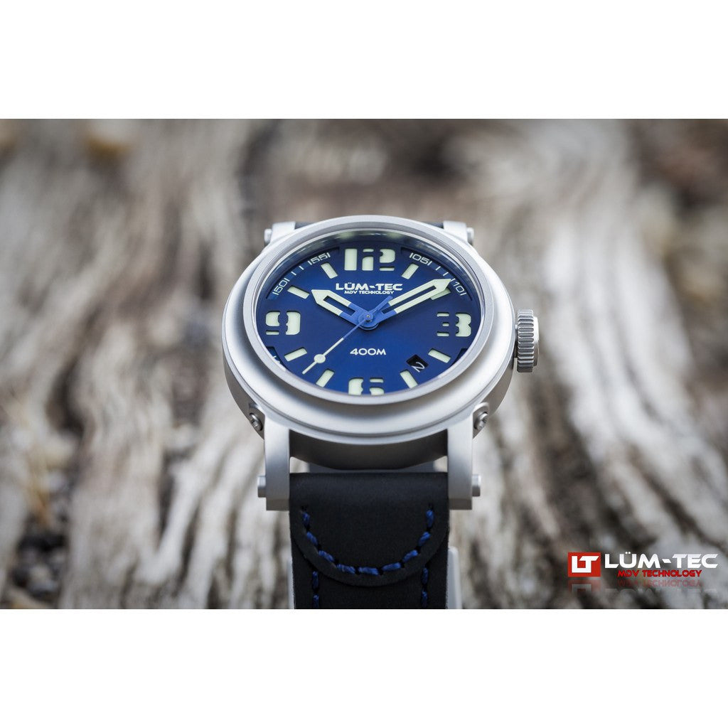 Lum-Tec 400M-2 Abyss Watch | Leather Strap