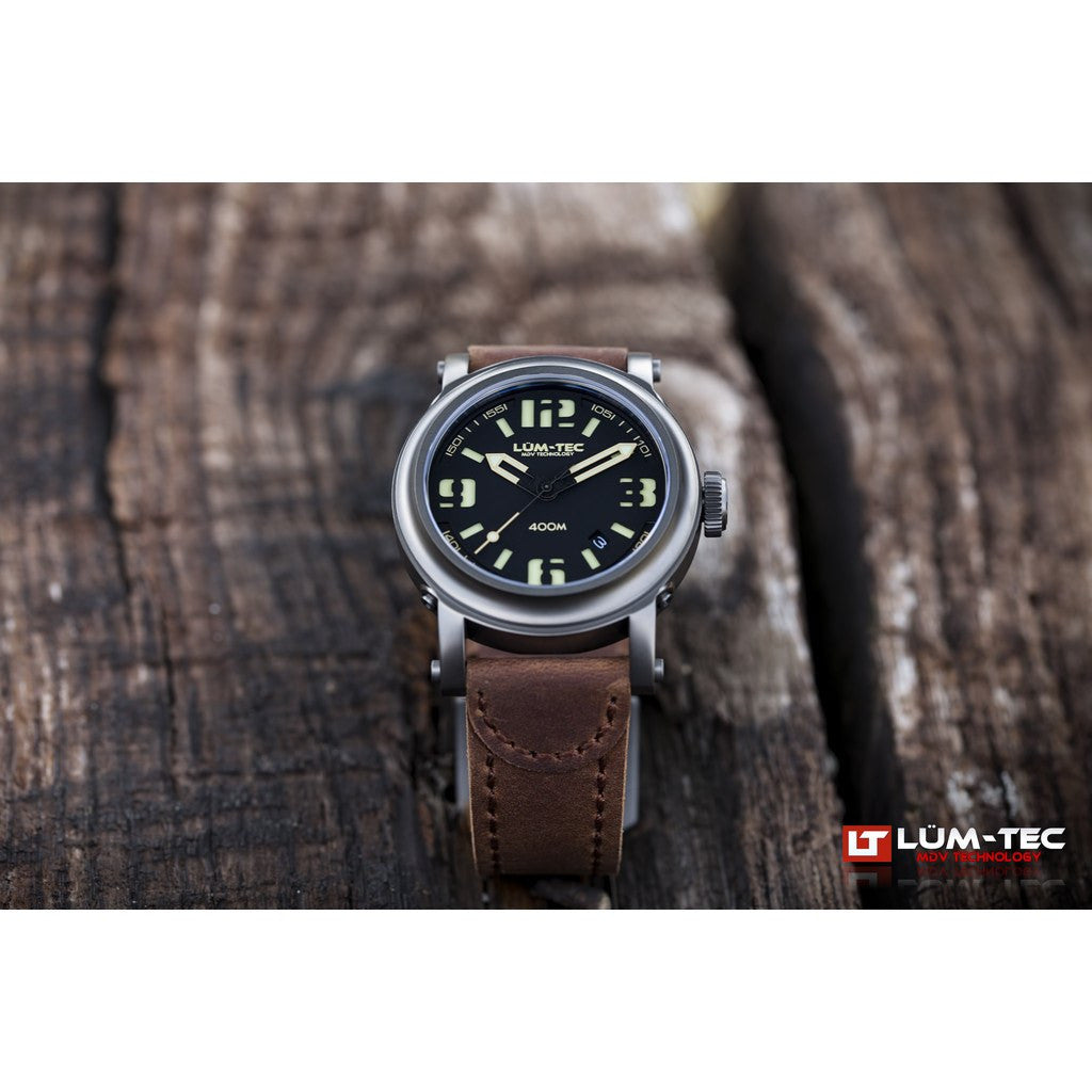 Lum-Tec 400M-3 Abyss Watch | Leather Strap