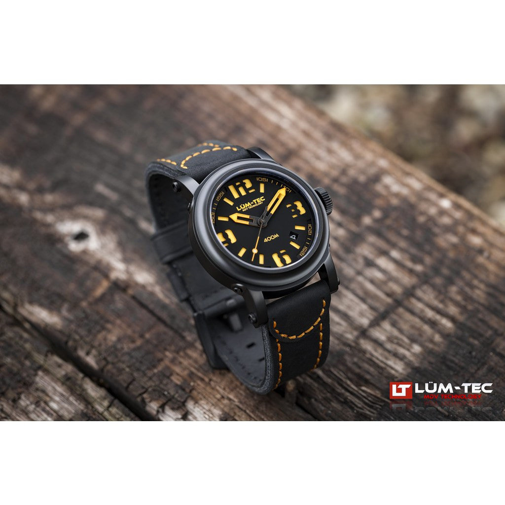 Lum-Tec 400M-4 Abyss Watch | Leather Strap