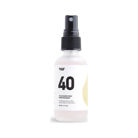 Way of Will 40 Hydrating Face & Body Spray | Sweet Marjoram Oz 40-WO-HBS