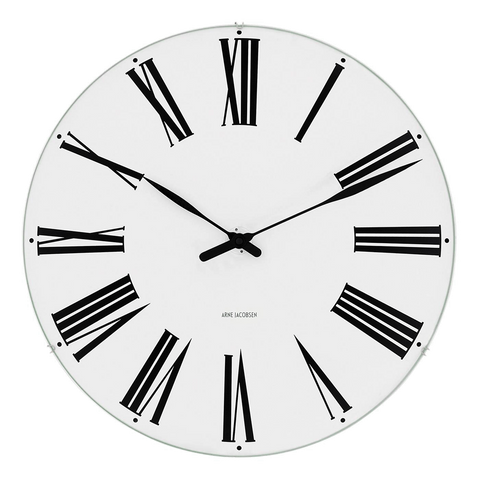 Arne Jacobsen Roman Clock 210/290/480 | White 43632/43642/43652