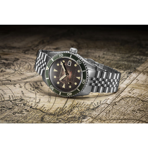 Spinnaker Wreck SP-5089-22 Automatic Watch | Brown/Steel
