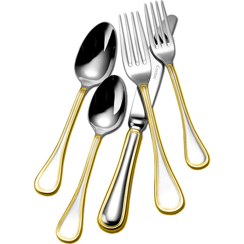 Couzon Le Perle Five Piece Place Setting | Gold Accent 461302