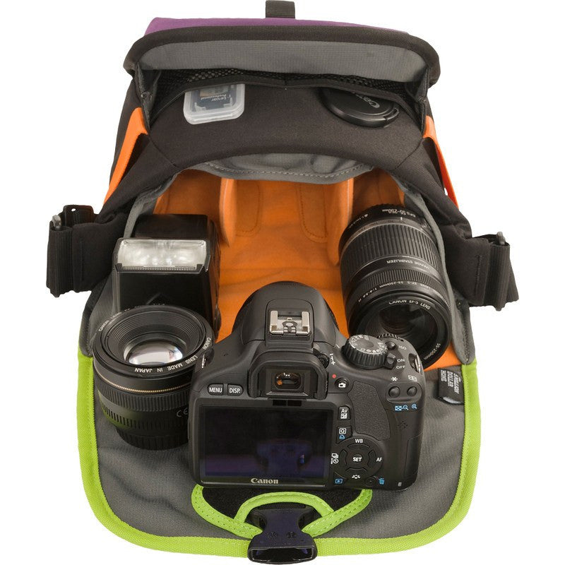 Crumpler 5 Million Dollar Home Shoulder Camera Bag | Purple/Snot Green