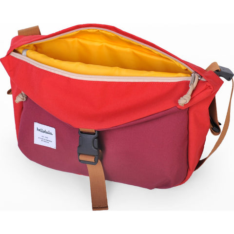 Hellolulu Duff Messenger Bag | Burgundy/Red HLL-50109-BRG