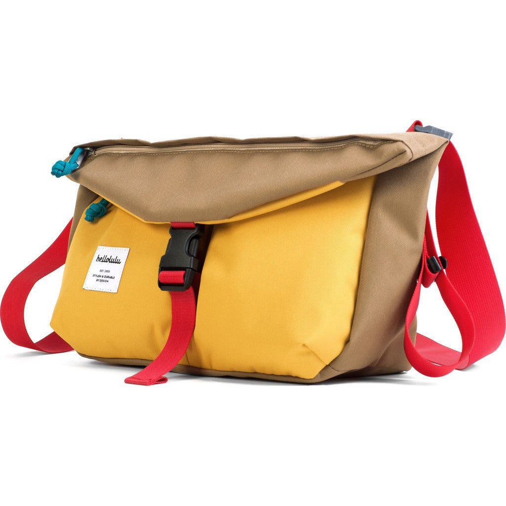Hellolulu Duff Messenger Bag | Yellow/Khaki HLL-50109-KAH