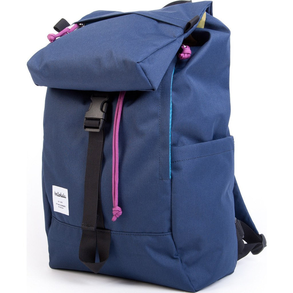 Hellolulu Sutton Drawstring Backpack | Navy HLL-50110-NVY