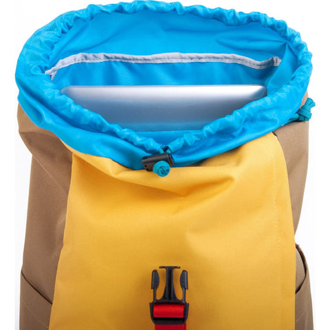 Hellolulu Sutton Drawstring Backpack | Yellow/Khaki HLL-50110-YLW