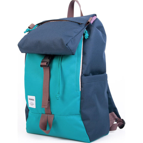 Hellolulu Sutton Drawstring Backpack | Sky Blue/Navy HLL-50110-SKY
