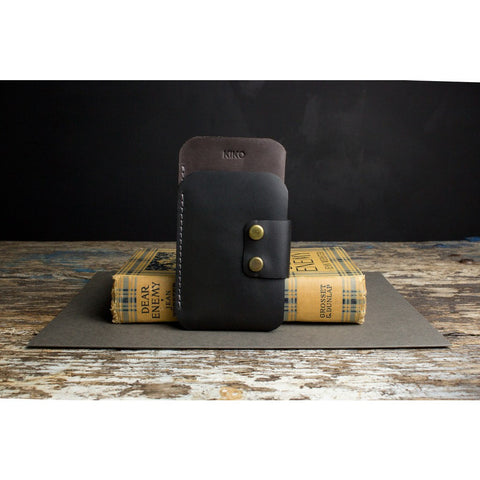 Kiko Leather iPhone 6/6s Plus Sleeve Wallet | Black 503