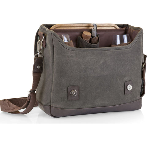 Picnic Time Legacy Adventure Wine Tote | Khaki Green/Brown