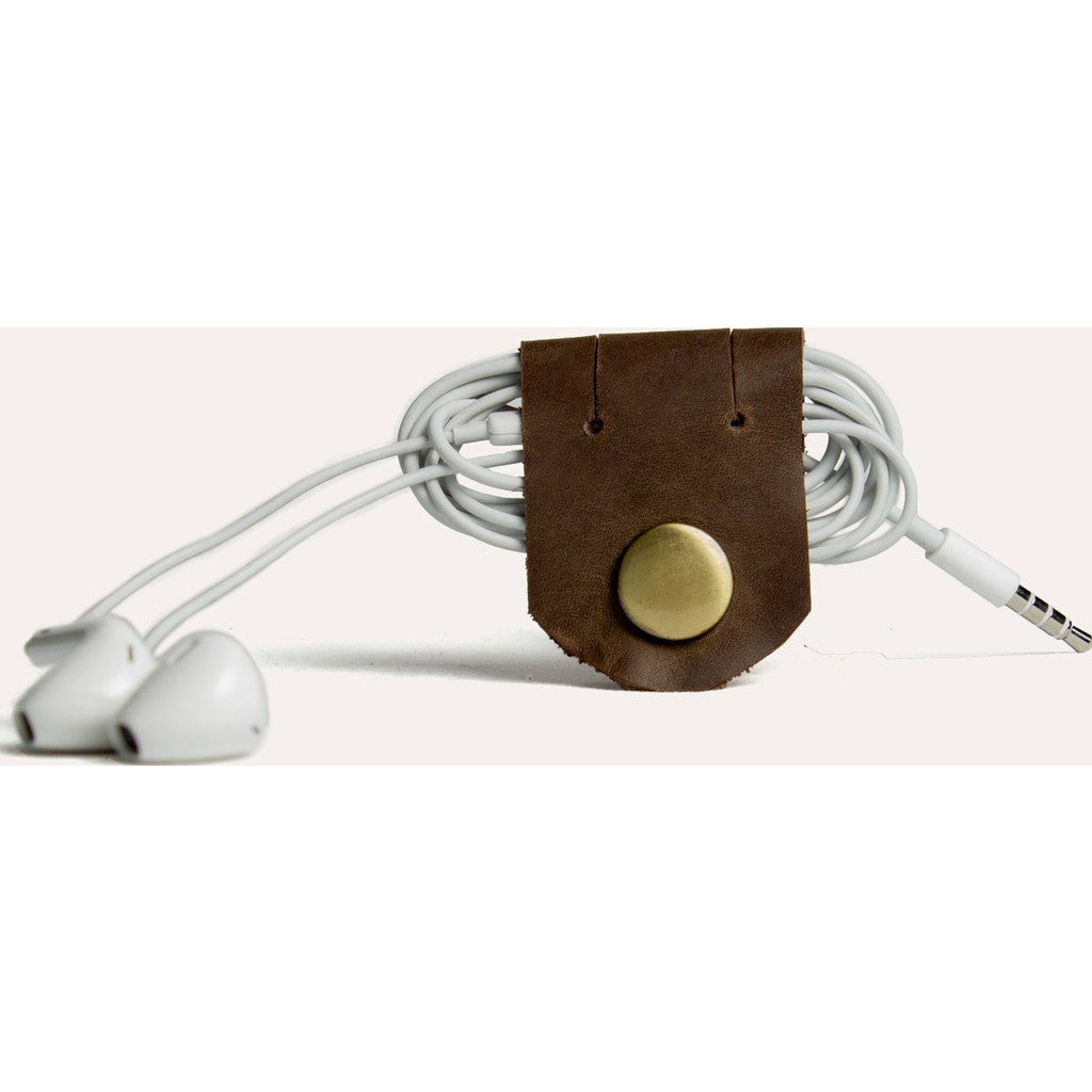 Kiko Leather Cable Holders | Brown 517