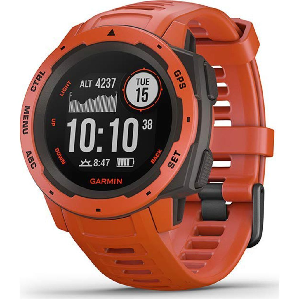 Garmin Instinct Outdoor GPS Watch | Flame Red 010-02064-02