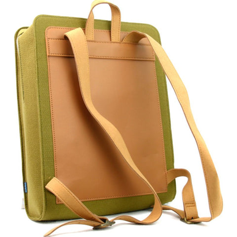 M.R.K.T. Evan Backpack SUPR Felt / MCRO Leather | Olive Green / White Oak 526140