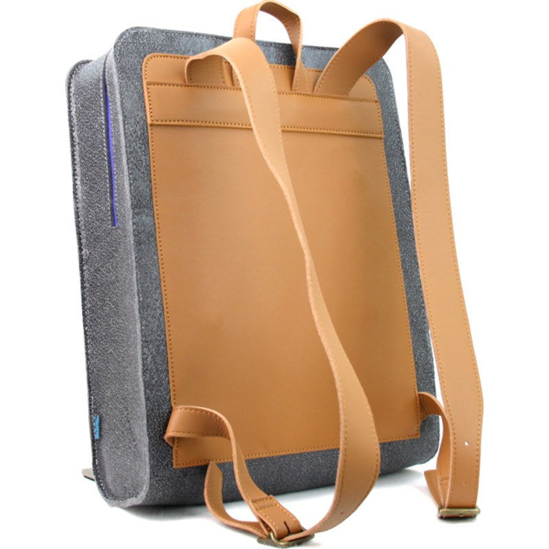 M.R.K.T. Evan Backpack SUPR Felt / MCRO Leather | Elephant Grey / Oiled Brown 526920