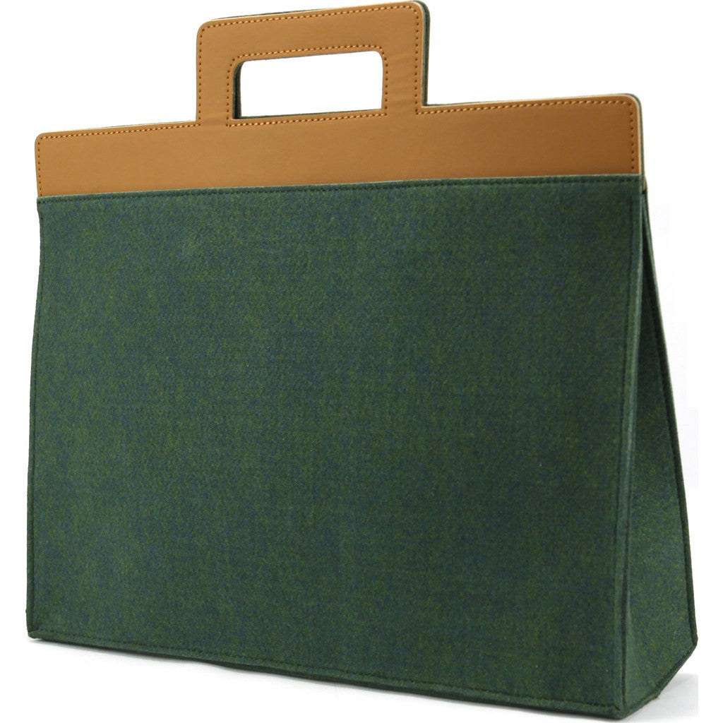 M.R.K.T. Henry Briefcase | Midnight Green/Coffee Brown 532041D