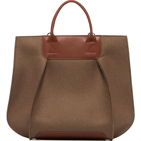 Graf Lantz Frankie Tote | Granite Felt / Sienna Leather 5320Gs