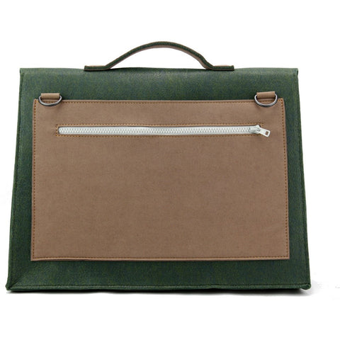 M.R.K.T. Mateo Briefcase | Midnight Green/Teak 534040D