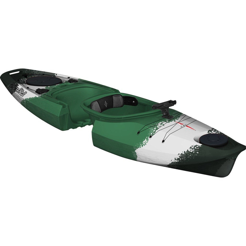 Point 65 Martini GTX Angler Modular Kayak Back Section | Green Camo 30