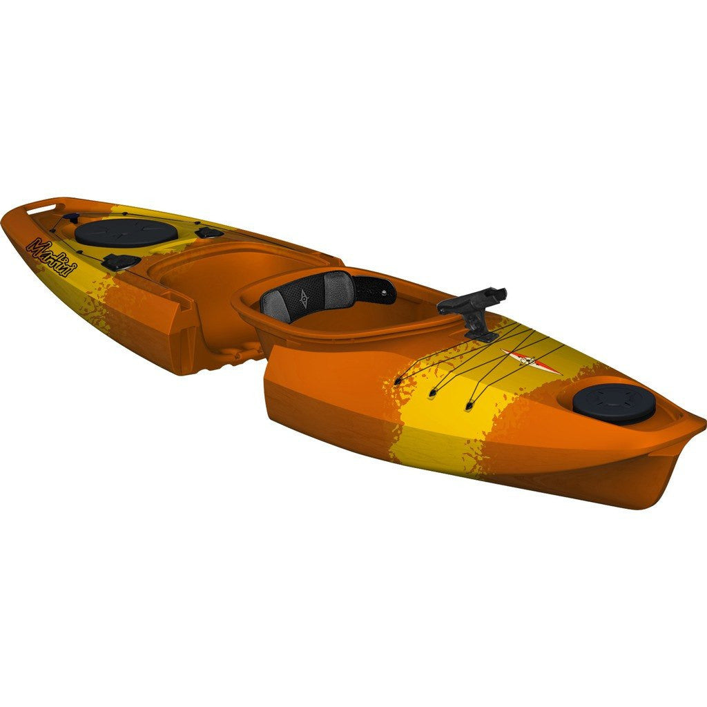 Point 65 Martini GTX Angler Modular Kayak Back Section | Yellow/Orange 30