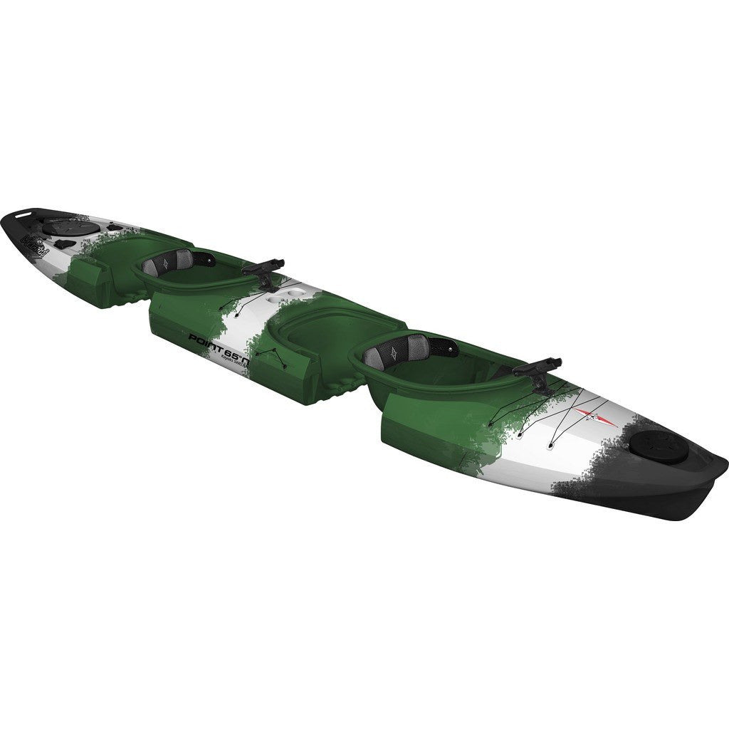 Point 65 Martini GTX Angler Modular Tandem Kayak | Green Camo