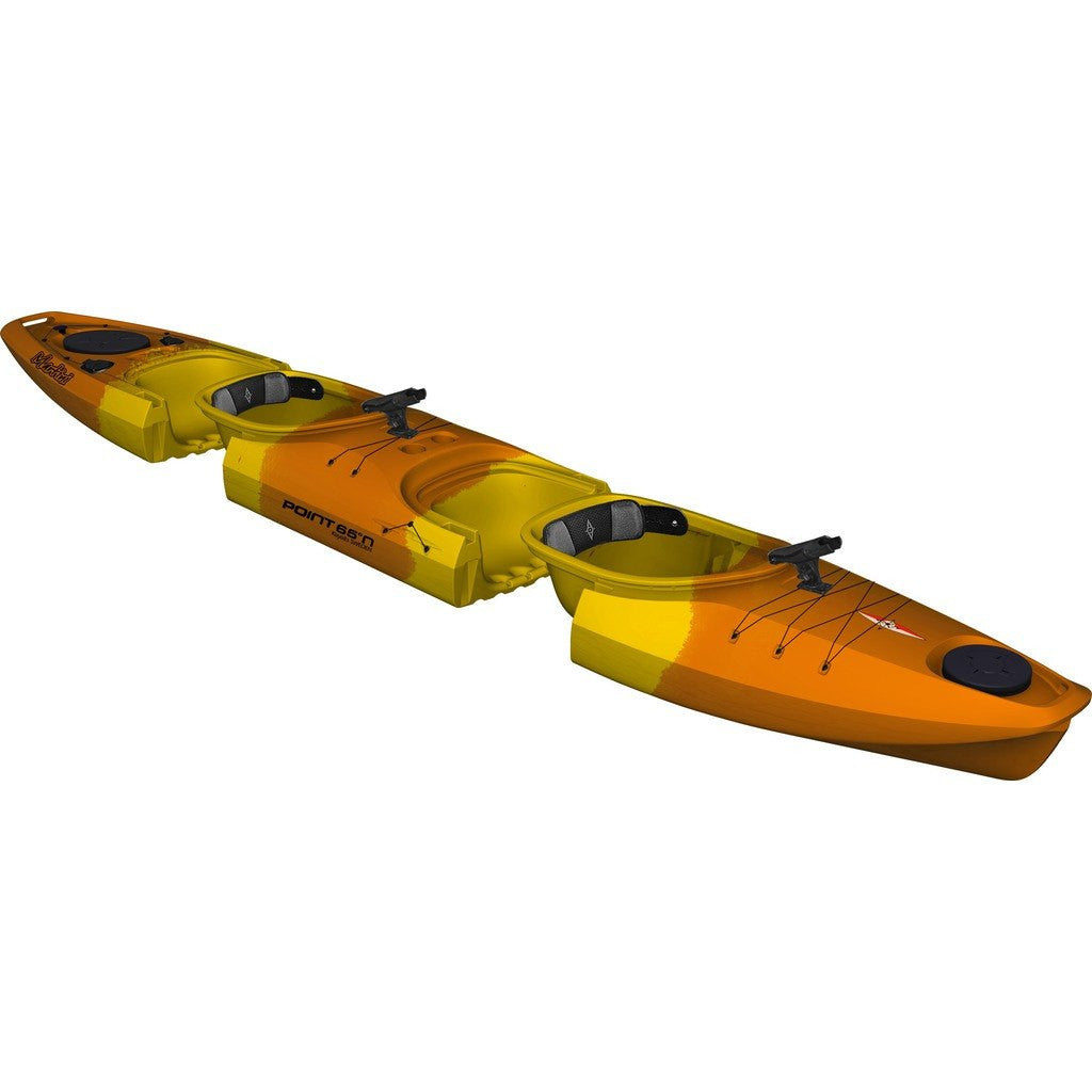 Point 65 Martini GTX Angler Modular Kayak Mid Section | Yellow/Orange 38