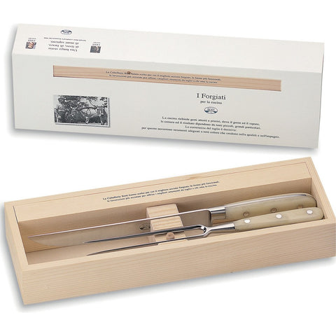 Coltellerie Berti Carving Set | Ivory Lucite Handles-557