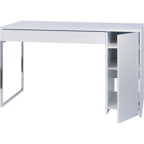 TemaHome Prado Office Desk | Pure White / Chrome 9500.052514