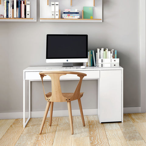 TemaHome Prado Office Desk | Pure White / White Lacquer 9500.052545