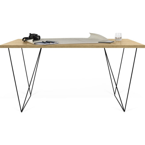 TemaHome Flow Desk | Oak / Black Lacquered Steel 190040-FLOW