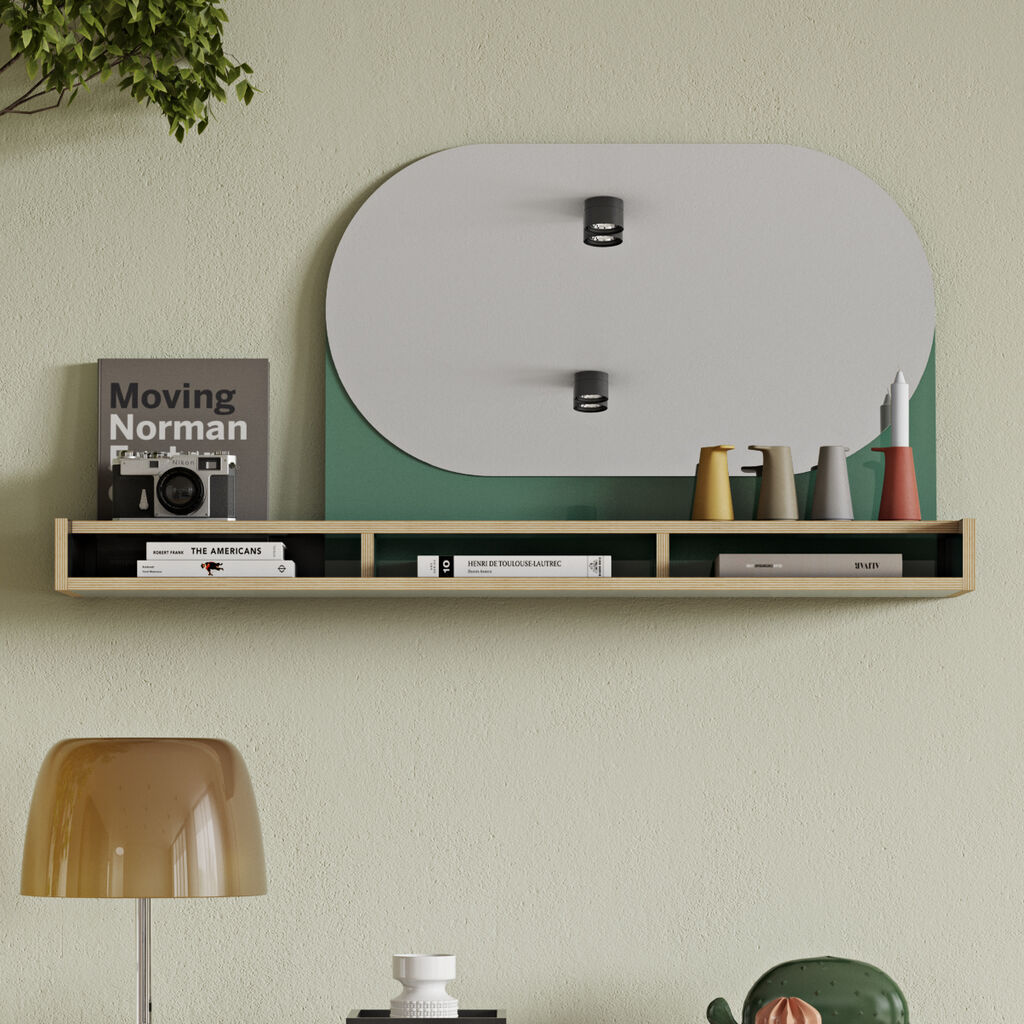 Temahome Ply Wall Shelf | Black