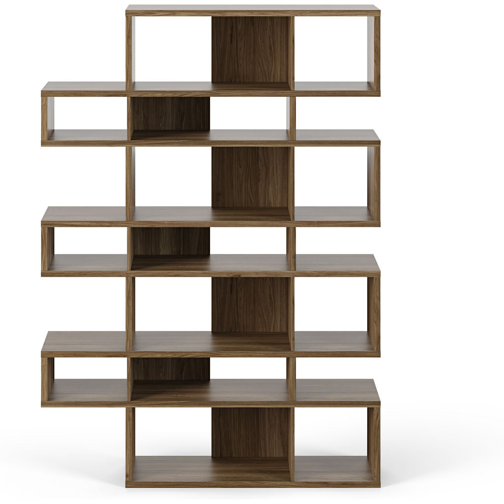 TemaHome London 003 Compostition Bookcase | Walnut Frame, Walnut Backs 9500.31478