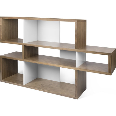 TemaHome London Composition Bookcase 2010-001 | Walnut Frame, Pure White Backs 098020-LONDON1
