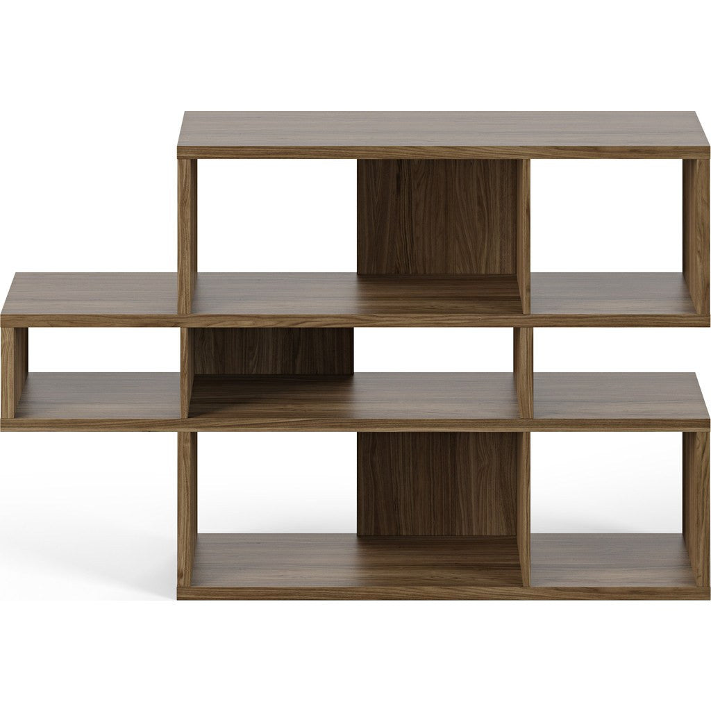 TemaHome London Composition Bookcase 2010-001 | Walnut Frame, Walnut Backs 098020-LONDON1