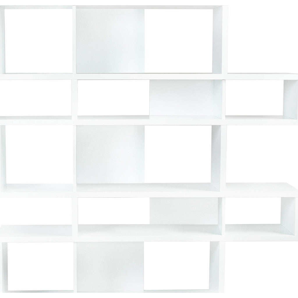 TemaHome London Composition Bookcase 2010-002 | Pure White Frame, Pure White Backs 098020-LONDON2