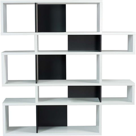 TemaHome London Composition Bookcase 2010-002 | Pure White Frame, Pure Black Backs 098020-LONDON2