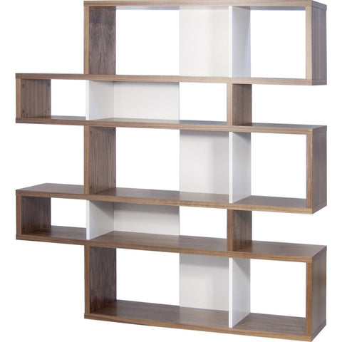 TemaHome London Composition Bookcase 2010-002 | Walnut Frame, Pure White Backs 098020-LONDON2