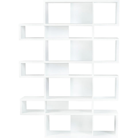 TemaHome London 003 Compostition Bookcase | Pure White Frame, Pure White Backs 9500.314964