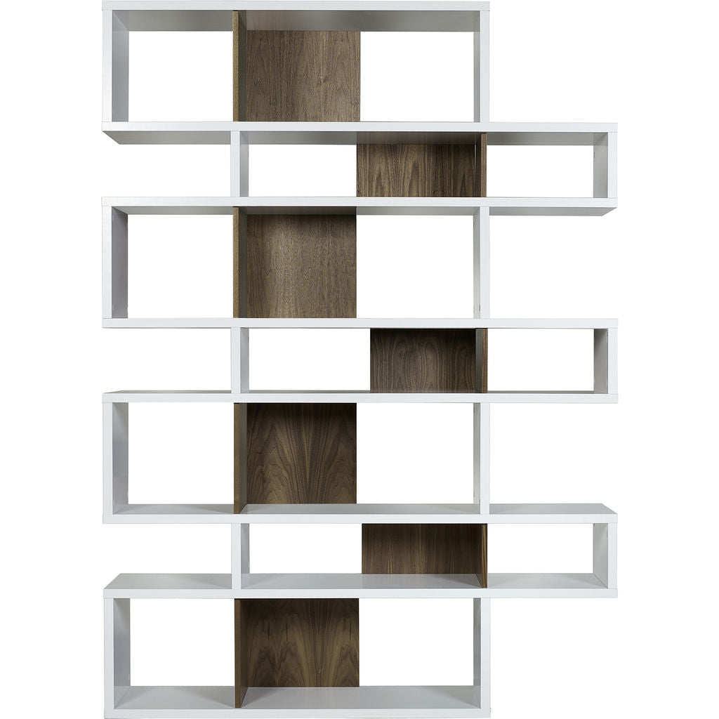 TemaHome London 003 Compostition Bookcase | Pure White Frame, Walnut Backs 9500.314971