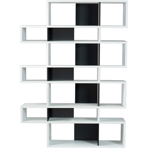 TemaHome London 003 Compostition Bookcase | Pure White Frame, Pure Black Backs 9500.314988