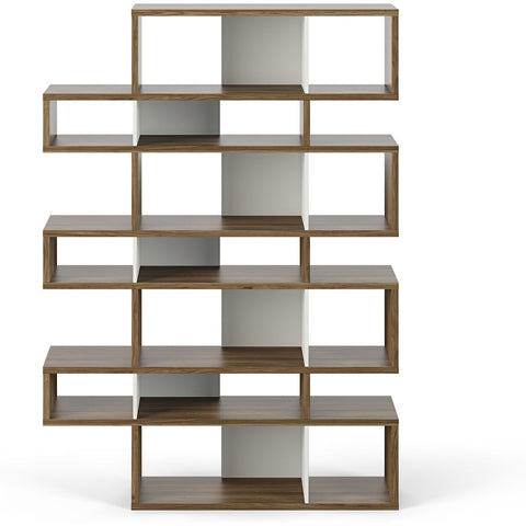 TemaHome London 003 Compostition Bookcase | Walnut Frame, Pure White Backs 9500.314995