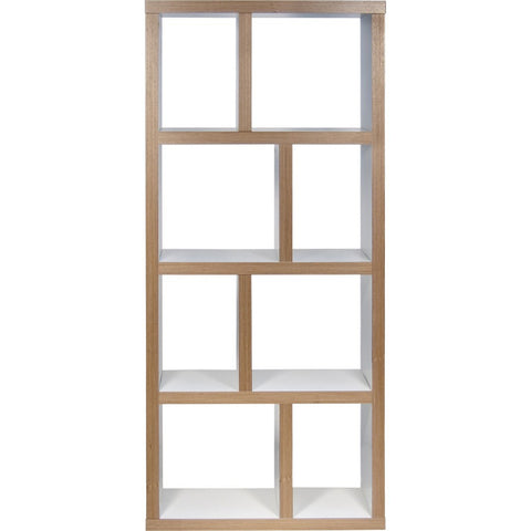 TemaHome Berlin 4 Levels Bookcase 70 Cm | Pure White / Plywood 118999-BERLIN470