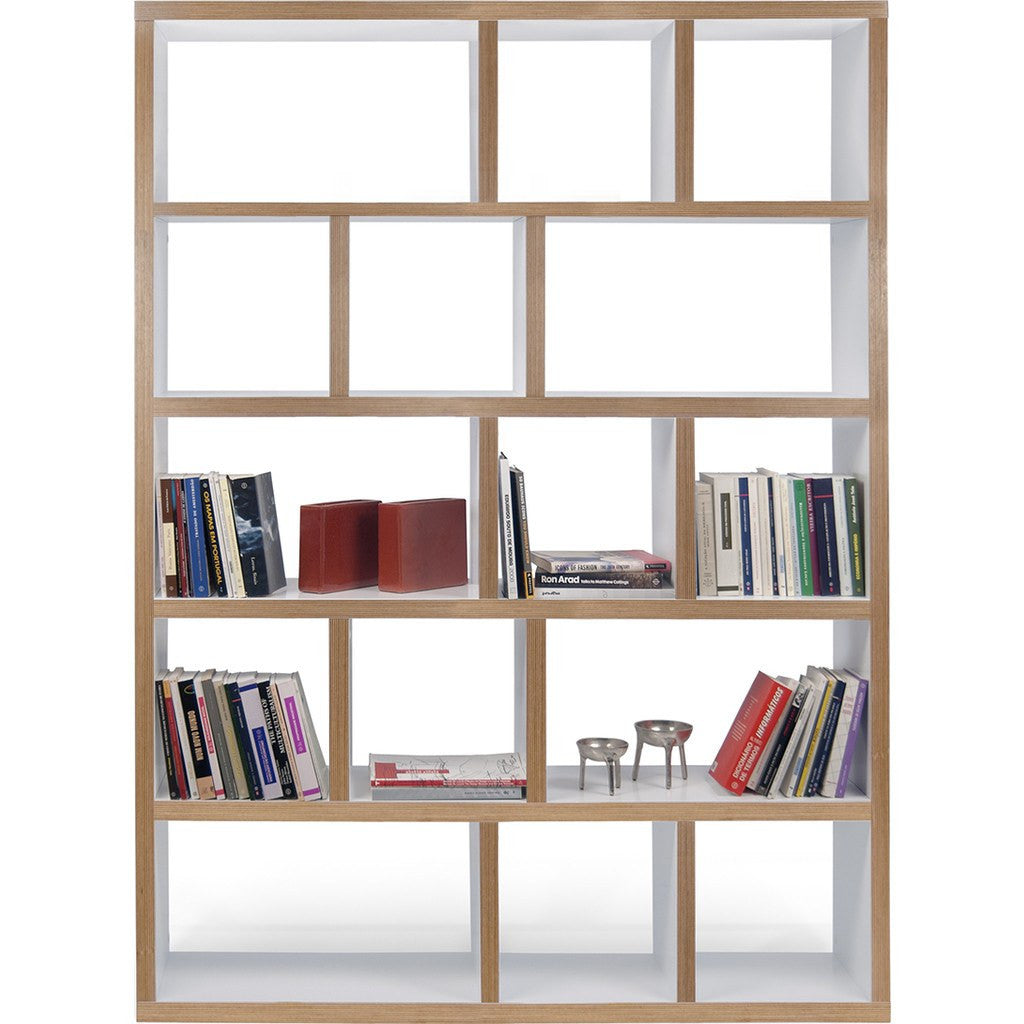 TemaHome Berlin 5 Levels Bookcase 150 Cm | Pure White / Plywood 118999-BERLIN5150