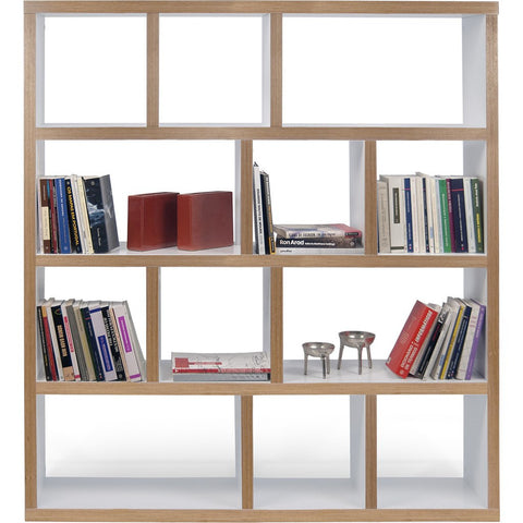 TemaHome Berlin 4 Levels Bookcase 150 Cm | Pure White / Plywood 118999-BERLIN4150