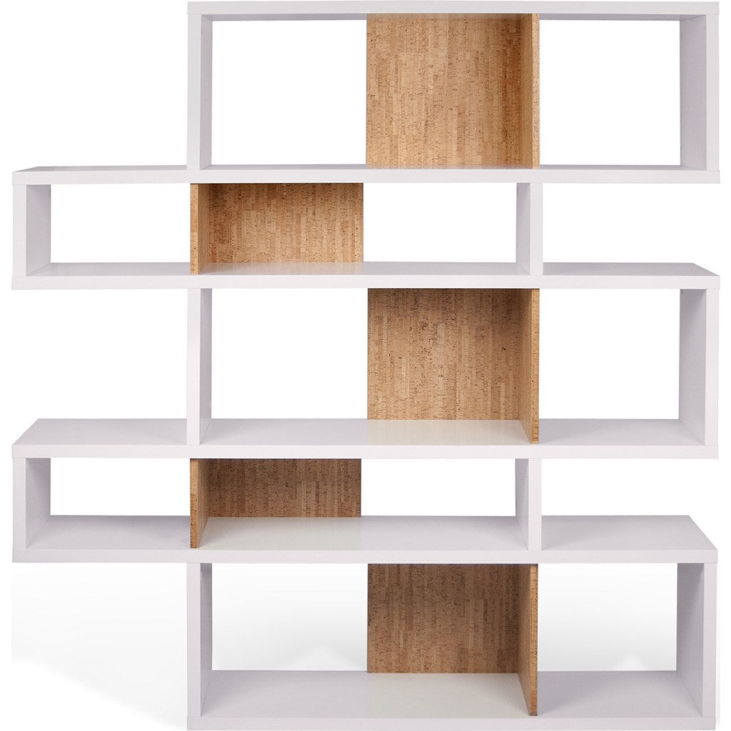 TemaHome London Composition Bookcase 2010-002 | Pure White Frame, Cork Backs 098020-LONDON2