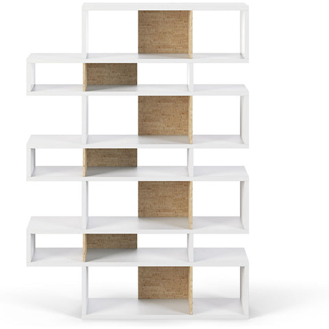 TemaHome London 003 Compostition Bookcase | Pure White Frame, Cork Backs 9500.319495