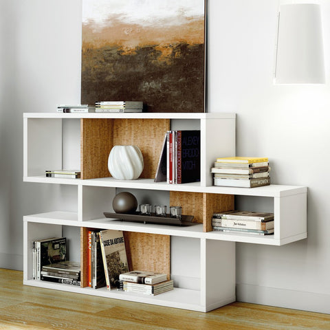 TemaHome London Composition Bookcase 2010-001 | Pure White Frame, Cork Backs 098020-LONDON1