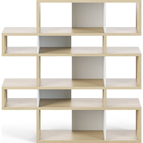 TemaHome London Composition Bookcase 2010-002 | Oak Frame, Pure White Backs 098020-LONDON2